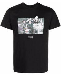 Throwback. T-shirt à imprimé graphique - Noir