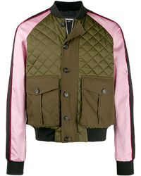DSquared² Quilted Bomber Jacket - Green