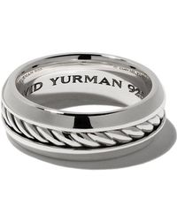 David Yurman - 'Cable' Ring aus Sterlingsilber - Lyst