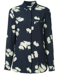 Ganni - Floral Pajama Shirt - Lyst