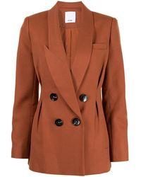 Acler Albany Double-breasted Blazer - Orange