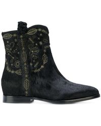 Ash - Leaf Embossed Boots - Lyst