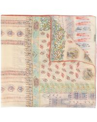 Etro Ornate-print Chiffon Scarf - Multicolour