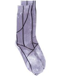 A_COLD_WALL* Socken mit grafischem Print - Grau
