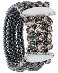 Camila Klein Pulsera con detalles de cristales - Negro