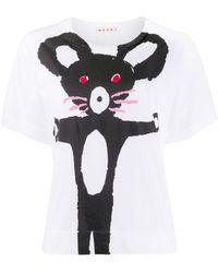 Marni マウスプリント Tシャツ - ホワイト