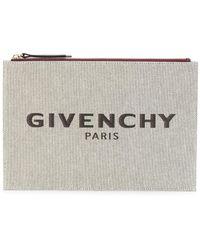 Givenchy Clutch mit Logo - Mehrfarbig