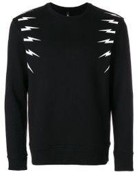 Neil Barrett - Lightning Bolt Print Sweatshirt - Lyst