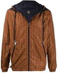 MCM ロゴ フーデッドジャケット - ブラウン