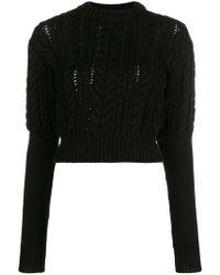Lorenzo Serafini Intarsia Pullover Knit Philosophy Lyst Di fqx0E0