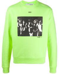 Off-White c/o Virgil Abloh - Sweatshirt mit Spray-Print - Lyst