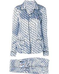 Prada Пижама С Узором - Синий