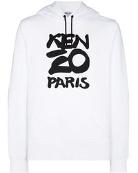 KENZO Pull a capuche blanc Paris