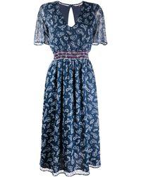 Tommy Hilfiger ペイズリー ドレス - ブルー