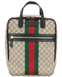 5c5bb42a3a8d Gucci Bee Print Gg Supreme Backpack for Men - Lyst