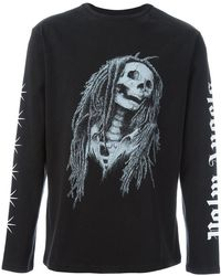 Palm Angels - Skeleton Print Sweatshirt - Lyst