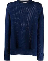 Etro Fine Open-knit Sweater - Blue