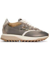 Santoni Bouclé Sneakers - Bruin