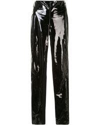 Karl Lagerfeld エナメル パンツ - ブラック