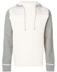 Sacai - Drawstring Neck Sweater - Lyst