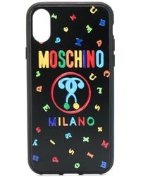 Moschino 'Double Question Mark' iPhone XS/S-Hülle - Schwarz