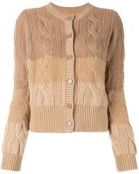 Coohem Cable-knit Degradé Cardigan - Multicolour