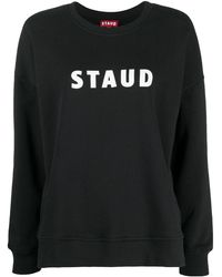 STAUD ロゴ スウェットシャツ - ブラック