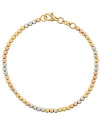 Carolina Bucci - 18kt White, Yellow And Rose Gold Disco Ball Bracelet - Lyst