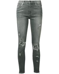 Amiri - Distressed Paint Effect Jeans - Lyst