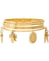 Dolce & Gabbana Pendant Cuff Bracelet - Metallic