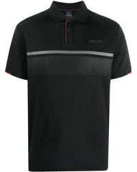 Hackett ストライプ ポロシャツ - ブラック
