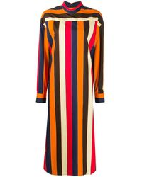Colville ストライプ ドレス - オレンジ