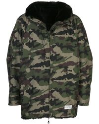 Mostly Heard Rarely Seen Fur Lined Hooded Jacket - Green