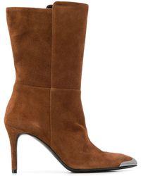 Albano Toe Cap Boots - Brown