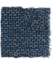Yohji Yamamoto グラフィック スカーフ - ブラック