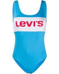 Levi's Bañador con logo a rayas - Azul