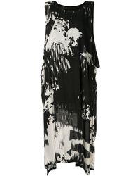 Y's Yohji Yamamoto - アブストラクトプリント ドレス - Lyst