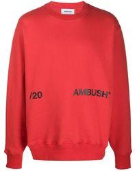 Ambush - レッド ニュー クルーネック スウェットシャツ - Lyst