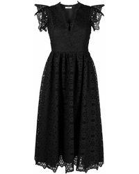 Vivetta レースエンブロイダリー ドレス - ブラック