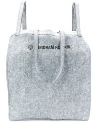 MM6 by Maison Martin Margiela Oversized Denim Shoulder Bag - Blue