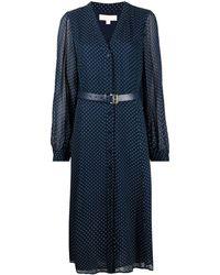 MICHAEL Michael Kors ポルカドット ドレス - ブルー