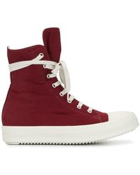 Rick Owens Drkshdw High-top Lace-up Trainers - Red