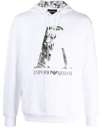 Emporio Armani ロゴ パーカー - ホワイト