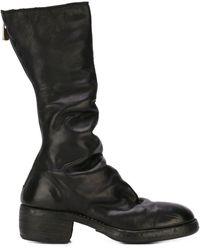Guidi Zip Up Calf Boots - Black