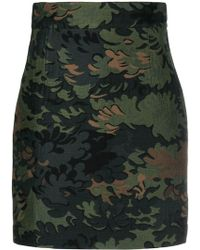 Ports 1961 Leaf Embroidered Mini Skirt - Green
