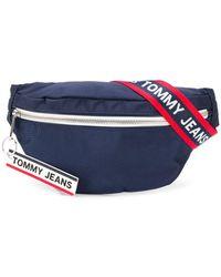 Tommy Hilfiger 'TJ' Gürteltasche mit Logo-Tape - Blau