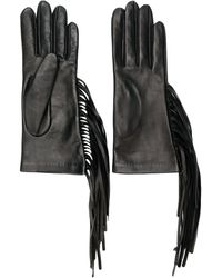 Manokhi - Getailleerde Handschoenen Met Franjes - Lyst