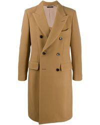 Tom Ford Двубортное Пальто - Коричневый