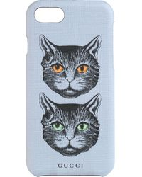 Gucci Mystic Cat Iphone 8 Case - Purple