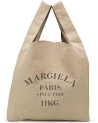 Maison Margiela Logo Print Shopper Tote - Multicolour